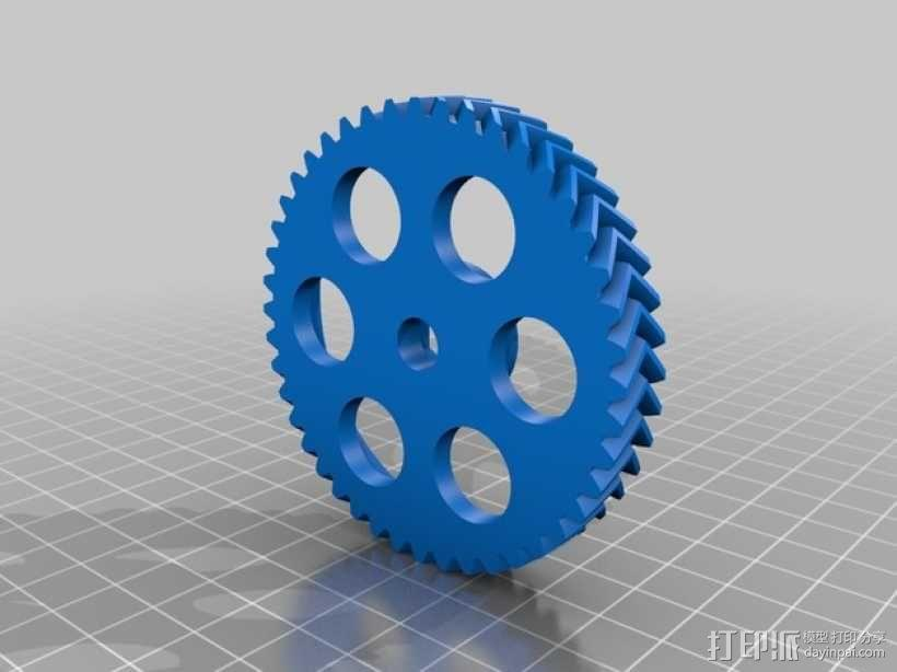 挤出机齿轮 3D模型  图5