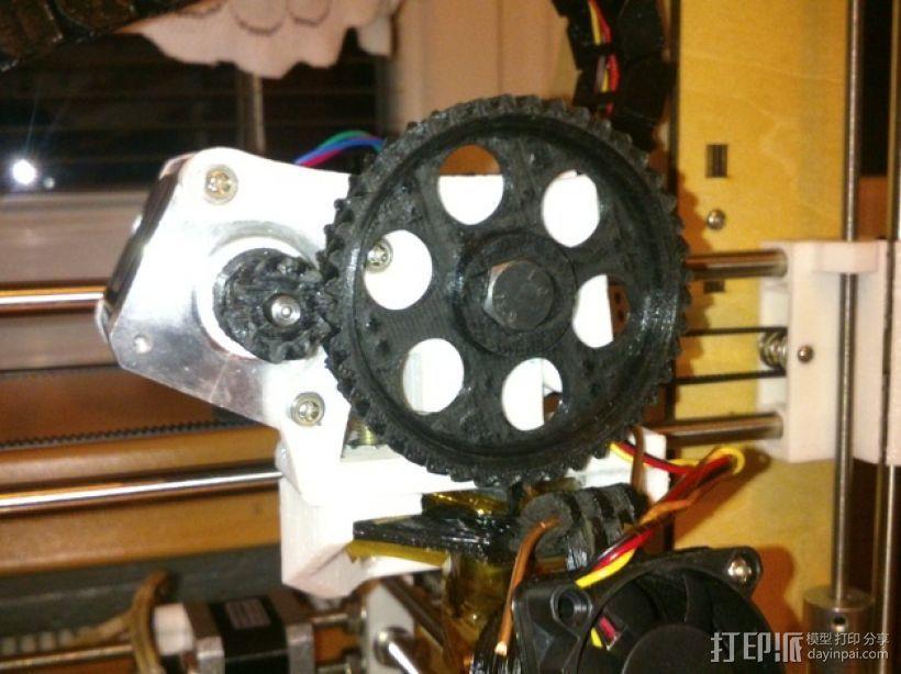 挤出机齿轮 3D模型  图6