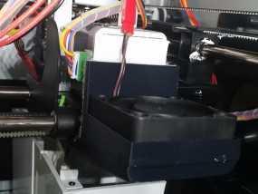 打印机XYZ轴的风扇架 3D模型