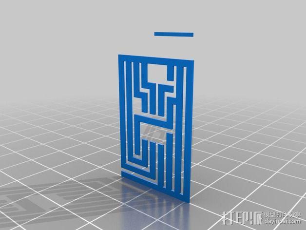 3D打印有弹性的电路板 3D模型  图2