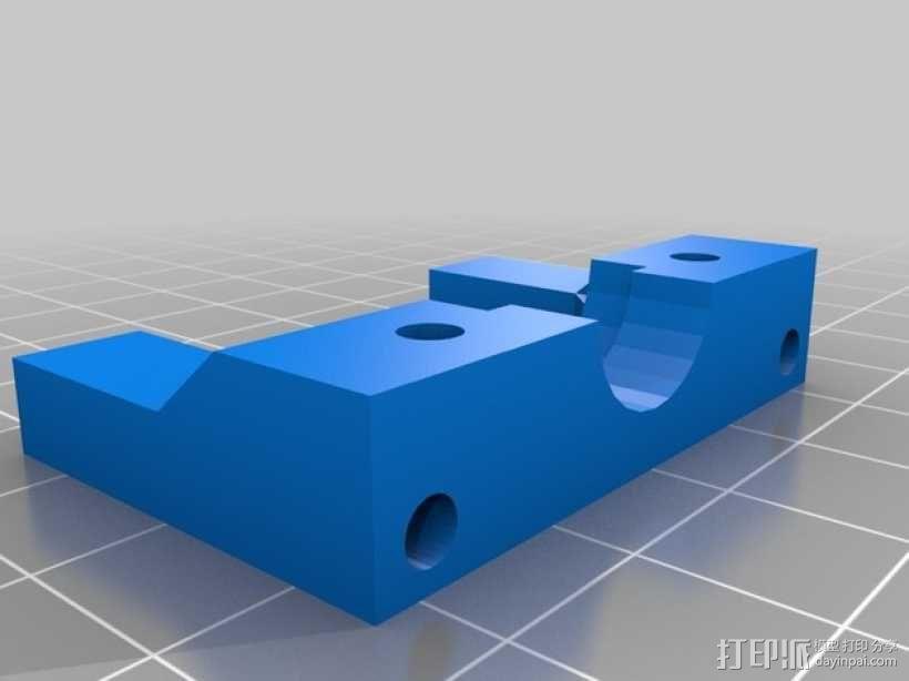 Bowden E3D V6打印机风扇 风扇座 3D模型  图3