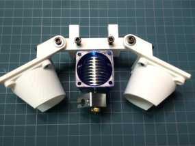 Bowden E3D V6打印机风扇 风扇座 3D模型