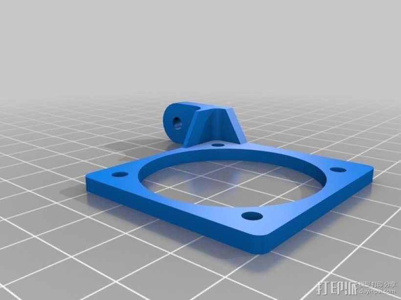 Bowden E3D V6打印机风扇 风扇座 3D模型  图5