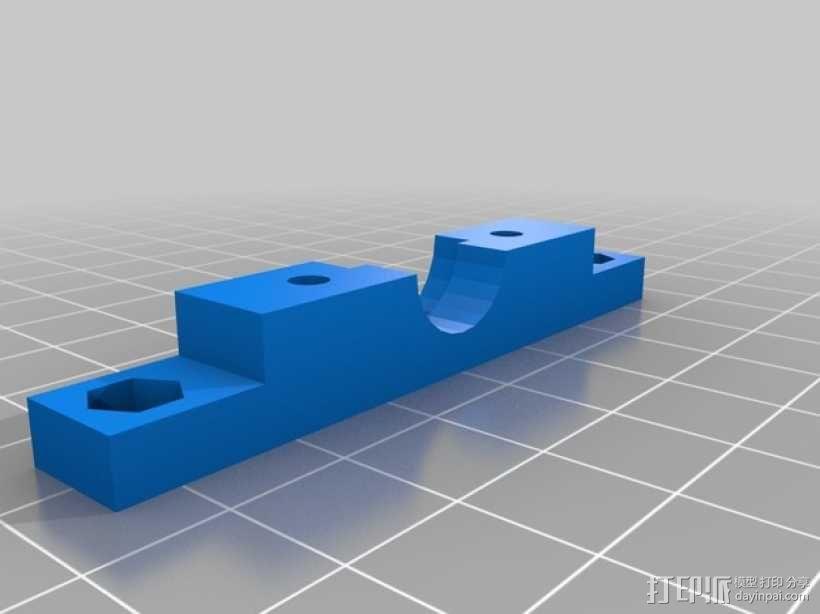 Bowden E3D V6打印机风扇 风扇座 3D模型  图4