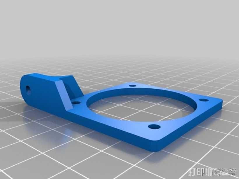 Bowden E3D V6打印机风扇 风扇座 3D模型  图6