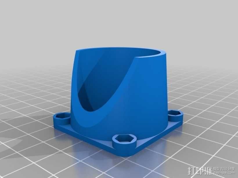 Bowden E3D V6打印机风扇 风扇座 3D模型  图7
