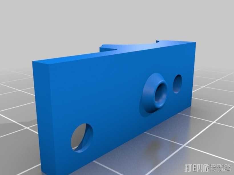 RigidBot打印机材料架 3D模型  图2