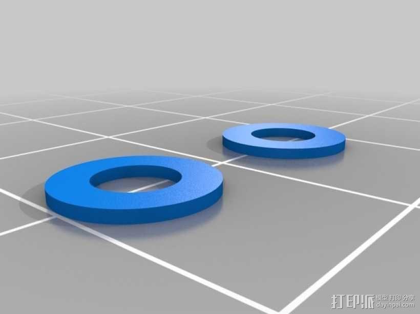 RigidBot打印机材料架 3D模型  图4