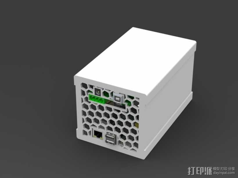 树莓派保护外壳  3D模型  图1