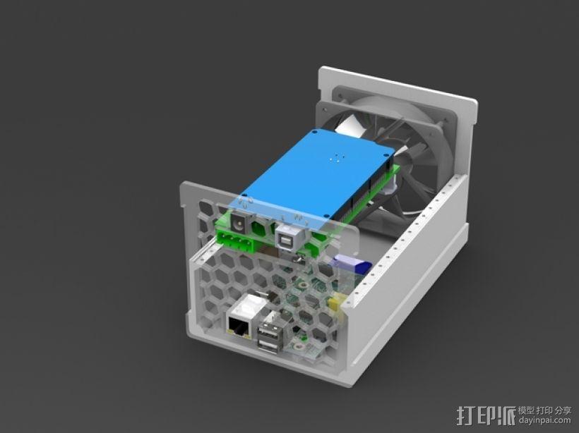 树莓派保护外壳  3D模型  图6