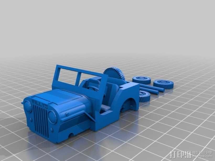威利斯越野车 3D模型  图1
