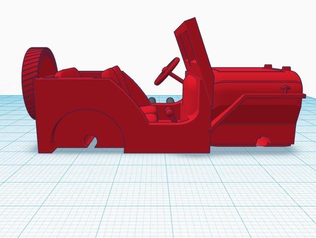 威利斯越野车 3D模型  图3