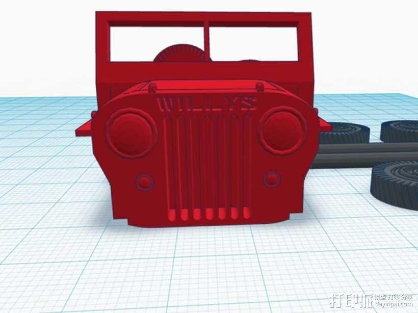 威利斯越野车 3D模型  图5
