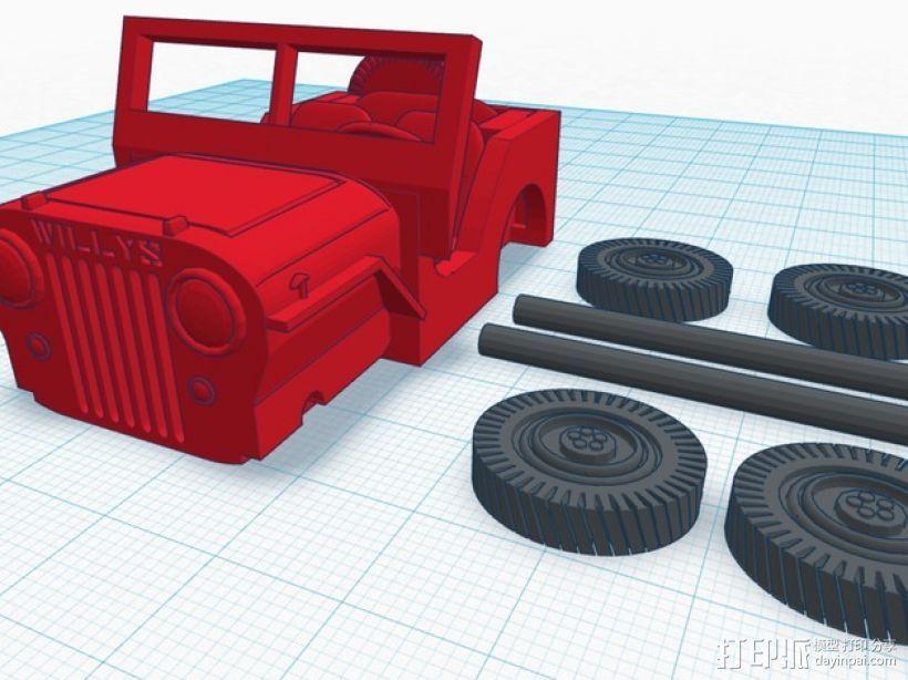 威利斯越野车 3D模型  图6