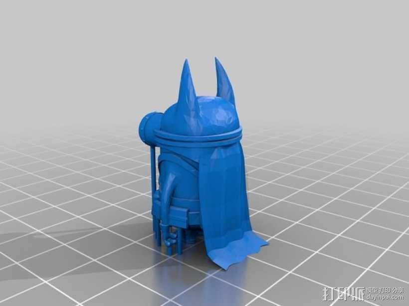 萌版蝙蝠侠 3D模型  图1