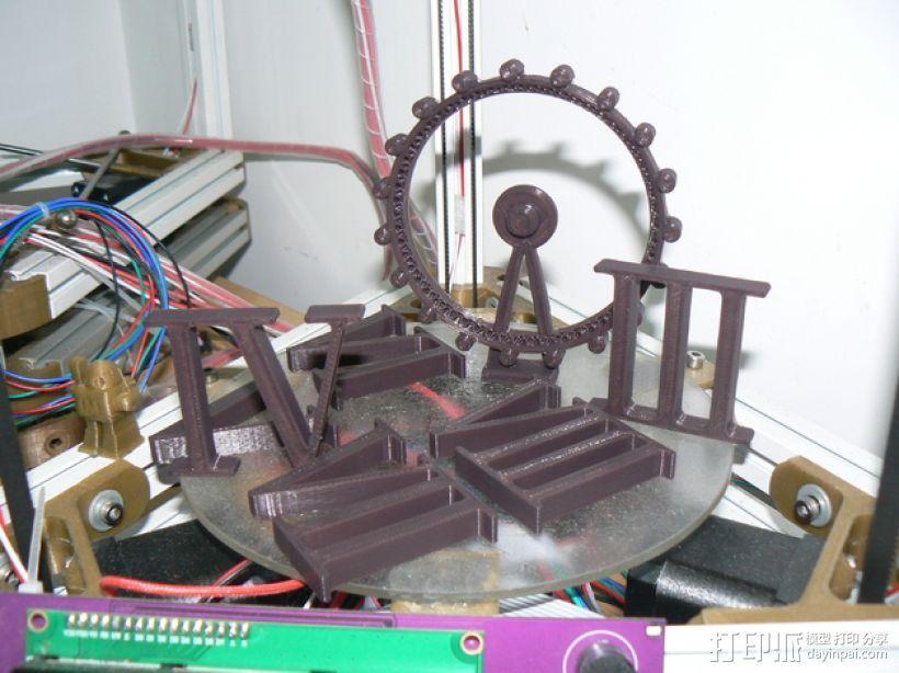 kossel800 delta 3d打印机  3D模型  图10