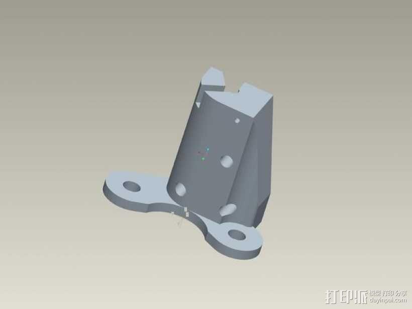 kossel800 delta 3d打印机  3D模型  图17