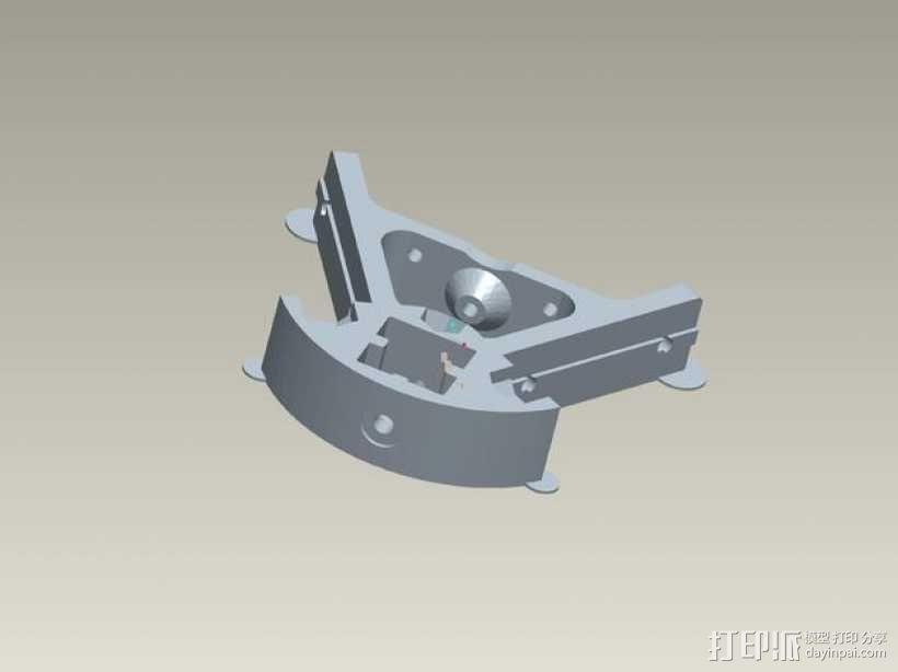 kossel800 delta 3d打印机  3D模型  图22