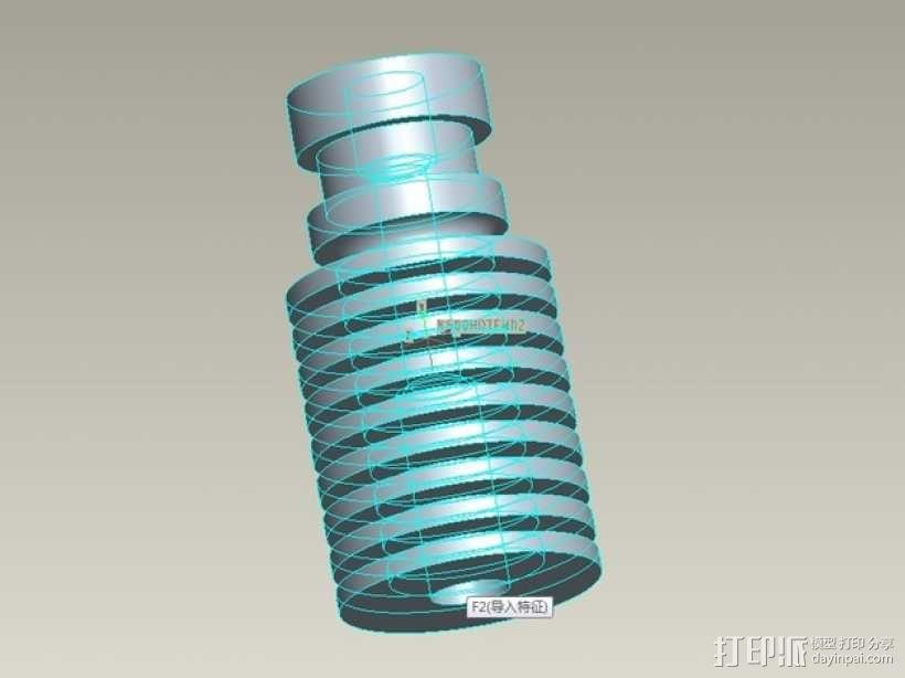 kossel800 delta 3d打印机  3D模型  图23