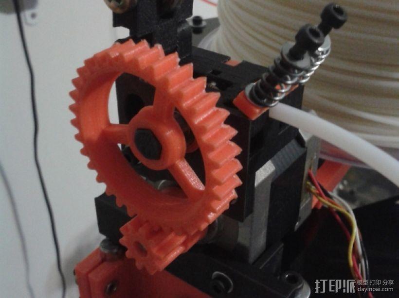 Bowden 鲍登此轮挤出机 3D模型  图1