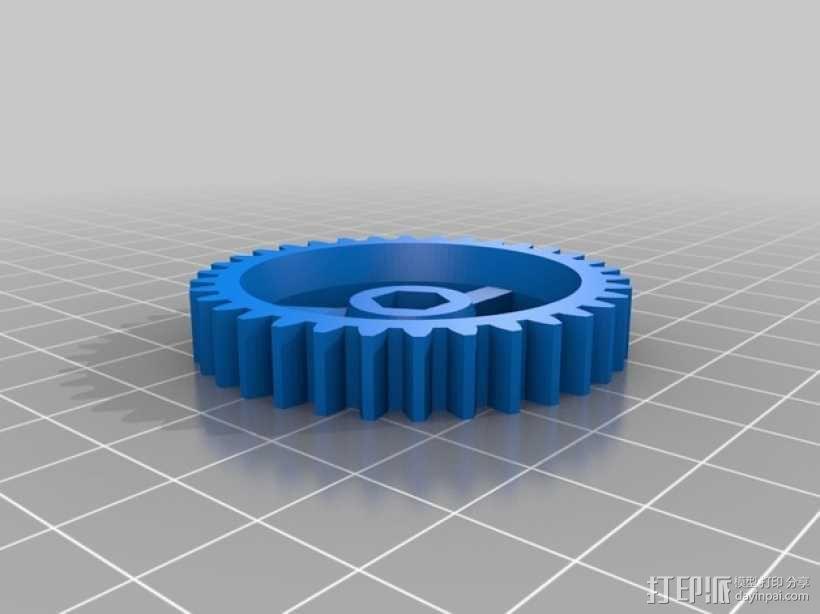 Bowden 鲍登此轮挤出机 3D模型  图4