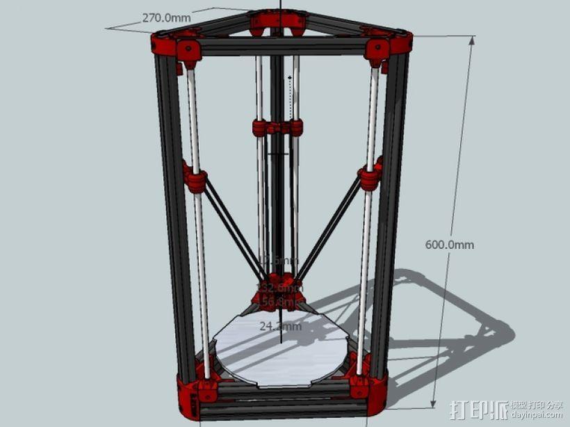 Delta'Q 3D打印机 3D模型  图1