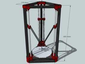 Delta'Q 3D打印机 3D模型