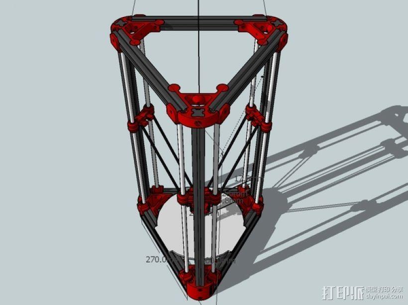 Delta'Q 3D打印机 3D模型  图2