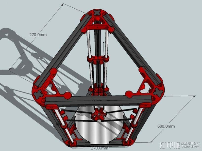 Delta'Q 3D打印机 3D模型  图3