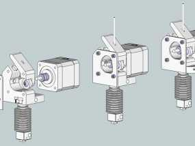 直线驱动挤出机 3D模型