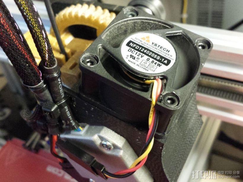 Nema 17马达风扇罩 3D模型  图1