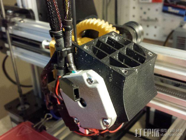 Nema 17马达风扇罩 3D模型  图2