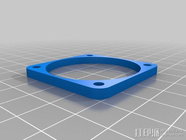 Nema 17马达风扇罩 3D模型  图4