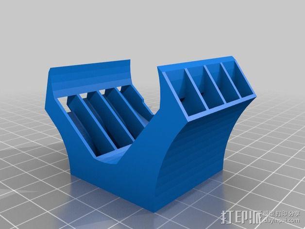 Nema 17马达风扇罩 3D模型  图3