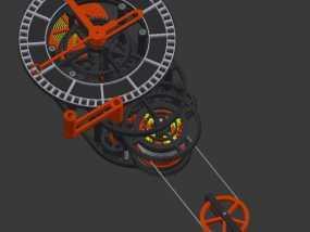 机械钟 3D模型