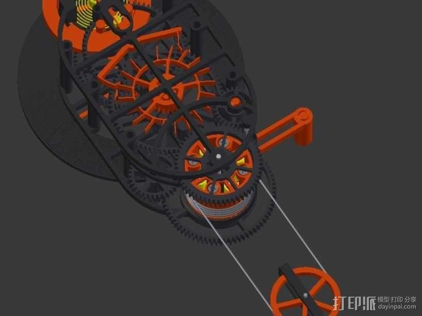 机械钟 3D模型  图3