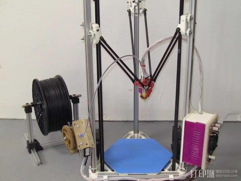 Kossel Mini 3D打印机部件 3D模型  图1