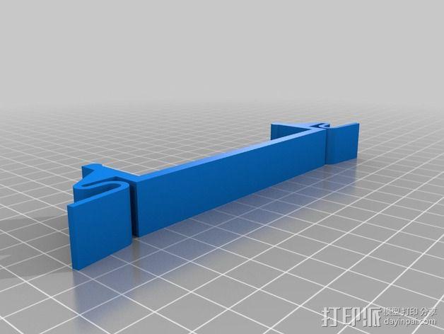 QU-BD打印机减震支架  3D模型  图2