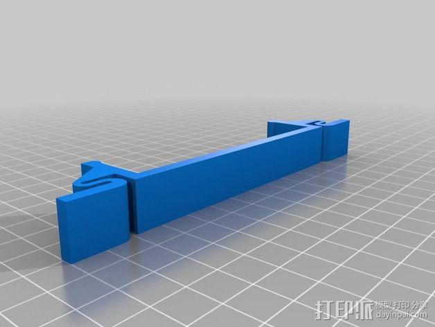 QU-BD打印机减震支架  3D模型  图5