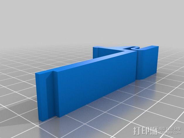 QU-BD打印机减震支架  3D模型  图4