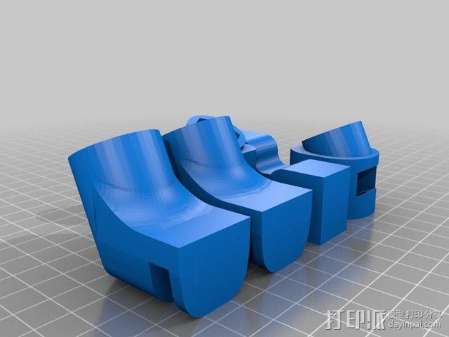 Prusa i3打印机铝制框架 3D模型  图2