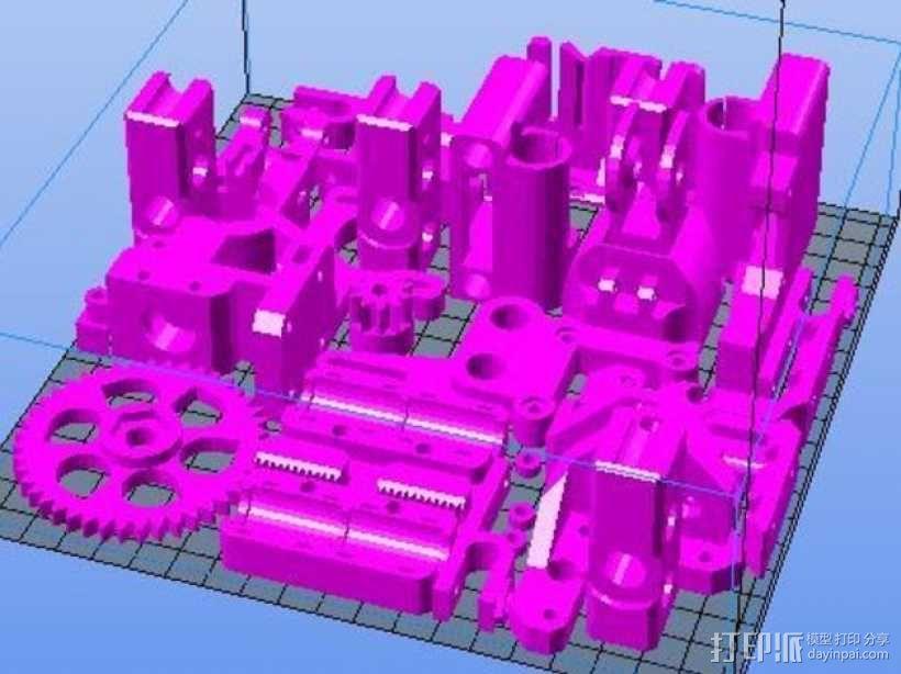 Prusa i3打印机部件 3D模型  图1