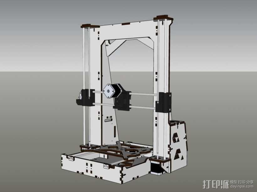 Pi-printer打印机 3D模型  图1