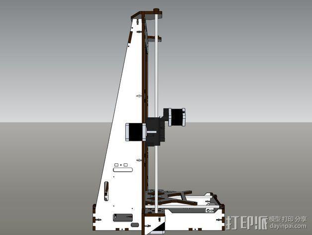 Pi-printer打印机 3D模型  图4