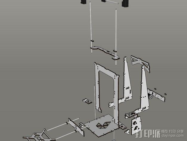 Pi-printer打印机 3D模型  图19