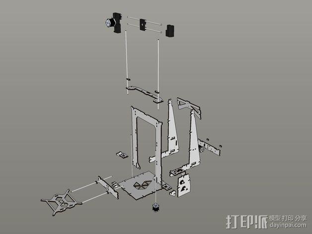 Pi-printer打印机 3D模型  图17