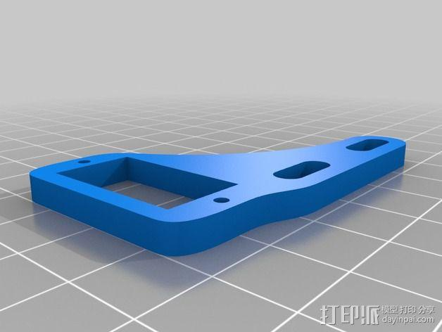 prusa i3打印机的挤出机马达安装架 3D模型  图2