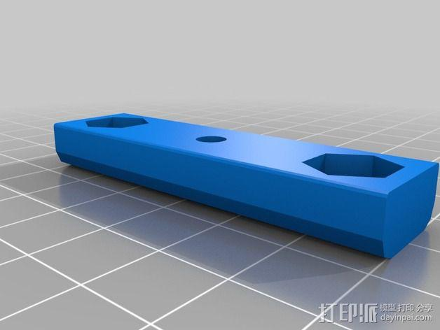 Prusa i3打印机X轴皮带张紧器 3D模型  图2