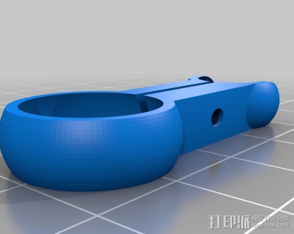 铰链式球形接头 3D模型  图3