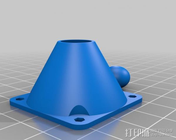 铰链式球形接头 3D模型  图4